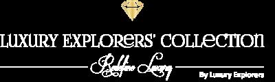 luxury explorers collection white logo
